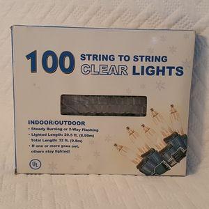 Twinkle/String Lights Clear, NIB